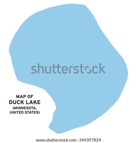 Duck lake (Minnesota,United States) map vector