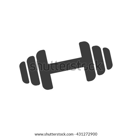 Dumbbell Icon Vector Dumbbell Stock Photos,...