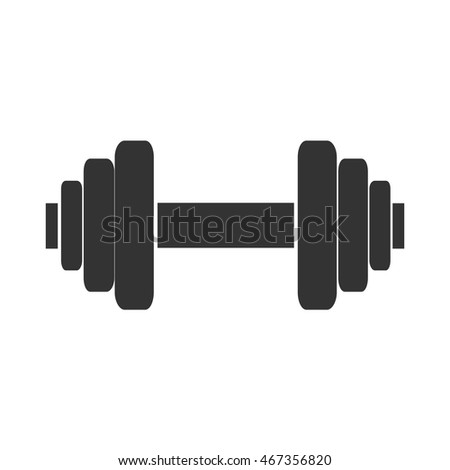 Dumbbell Icon Vector Stock Images, R...