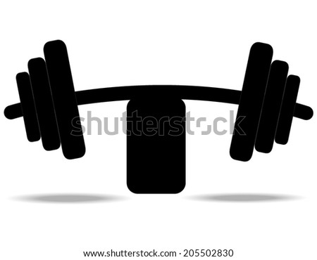 Dumbbell vector - stock vector