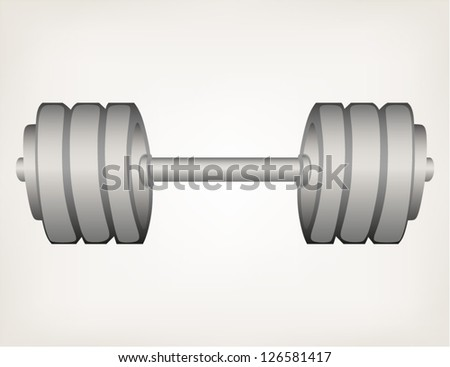 Dumbbell weight. Style vector