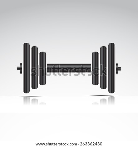 dumbbell weights - stock vector