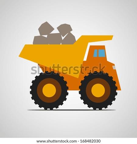 dump truck - stock vector