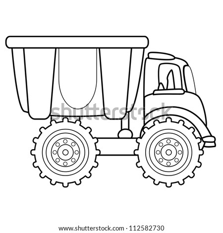 Dump truck toy. Vector illustration - stock vector
