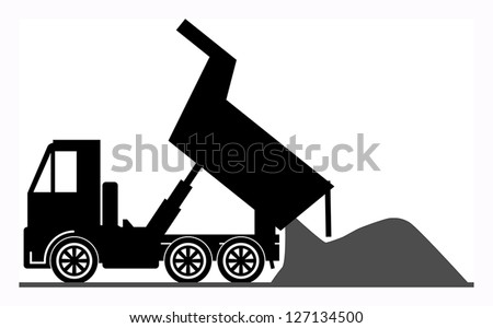 Dump truck, vector illustration - stock vector