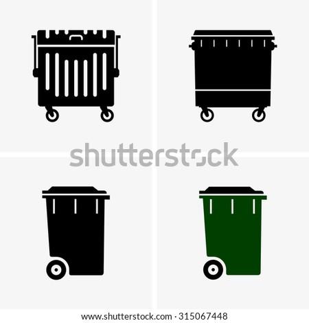 Dumpster - stock vector