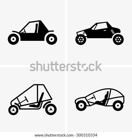 Dune buggy - stock vector
