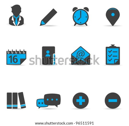 Duotone Icons - Collaboration - stock vector