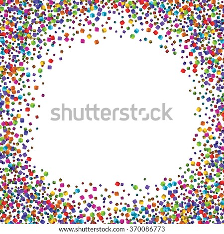 Dust particles.Colorful cubes composition.Background template.