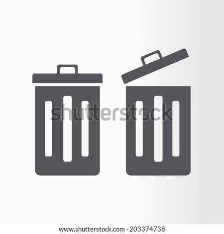 Dustbin vector icon. - stock vector