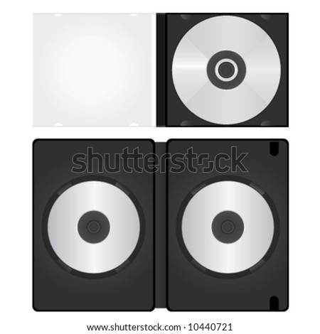 dvd and cd box vector