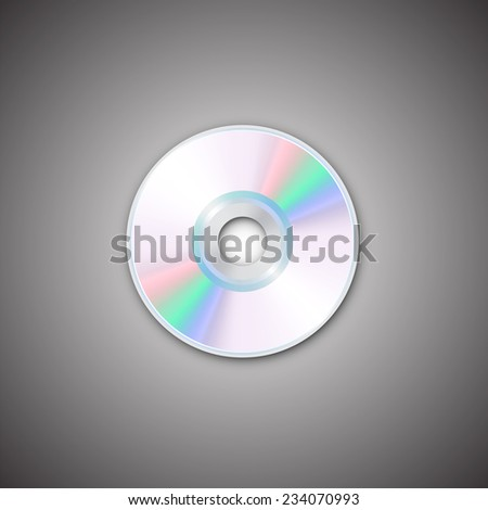 DVD and CD disc. Computer disks. Realistic image. Made in vector illustration