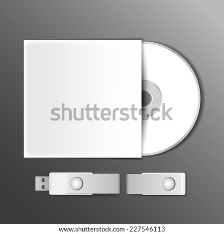 DVD and USB flash drive