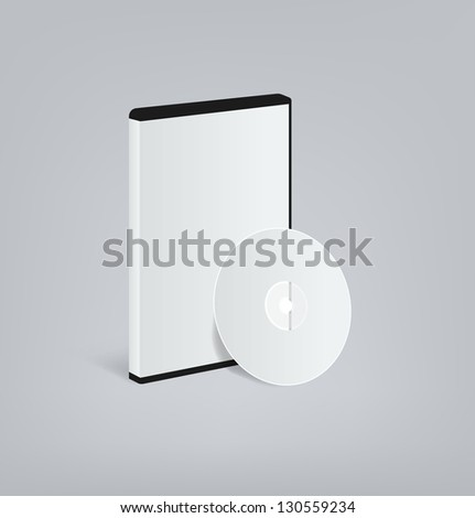 DVD blank - stock vector