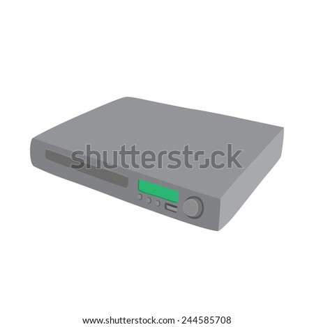 dvd blurry player vector