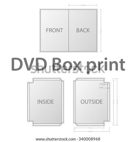 DVD Box printing template/DVD Box printing template/DVD Box printing template - stock vector