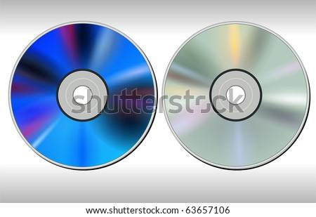 DVD CD disc, vector. - stock vector