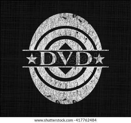 DVD on chalkboard - stock vector