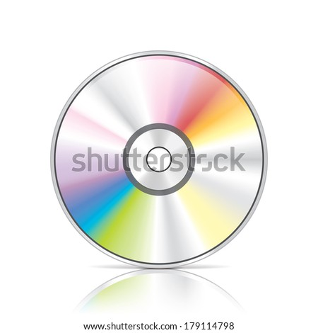 DVD or CD disc photo-realistic vector illustration - stock vector