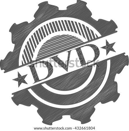 DVD pencil effect - stock vector