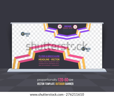 Dynamic Business Theme Outdoor Banner Design, Advertising Template  - stock vector