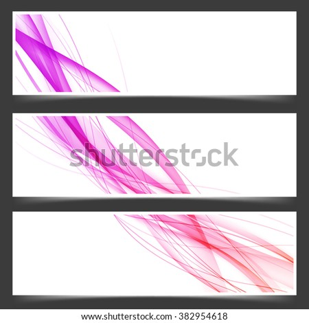 Dynamic lines abstract business flyer set. Vector illustration - stock vector