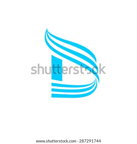 Dynamic Logo. letter D logo design template.  - stock vector