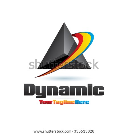 Dynamic Movement Icon Logo Element - stock vector