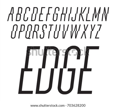 Dynamic Vector Font Trendy Style Lettering Typeface Latin Alphabet From A To Z