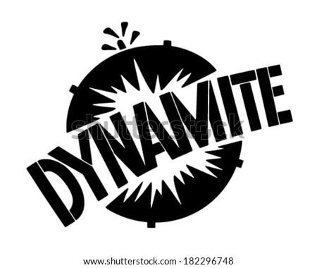 Dynamite Banner - Retro Clip Art Illustration - stock vector