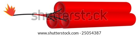 Dynamite or firecracker. - stock vector