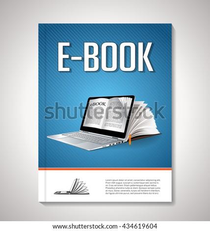 E-book cover design - stock vector