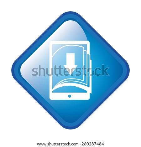 e-book design, vector illustration eps10 graphic  - stock vector