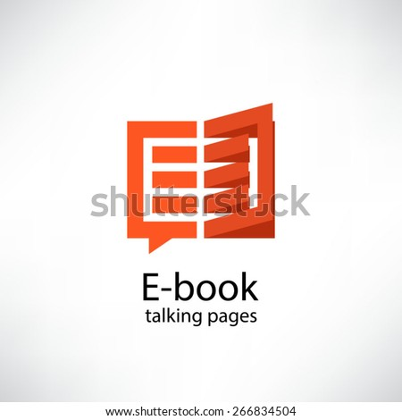 E -book. Electronic Library icon - stock vector