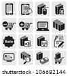 e-book icons - stock vector