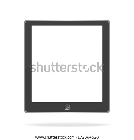 E book on white background - stock vector
