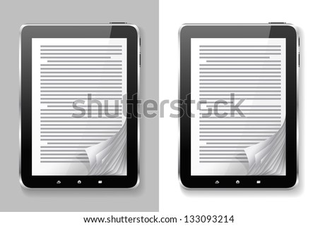 E-books are on the different backgrounds. - stock vector