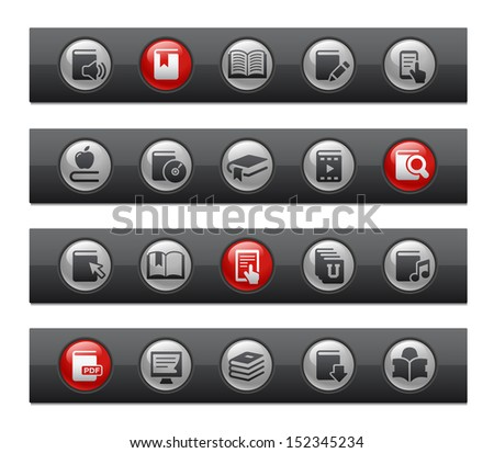 e-Books // Button Bar Series  - stock vector