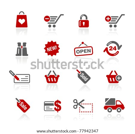 e-Business Icons// Redico Series - stock vector
