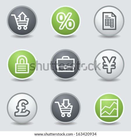 E-business web icons, circle buttons