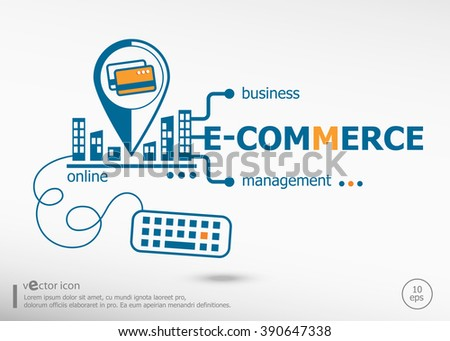 E-commerce and marketing concept. Performance concept for application development, creative process. - stock vector