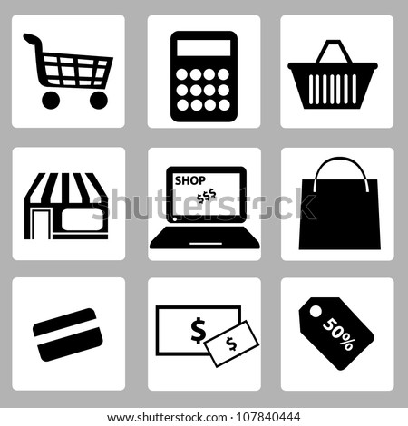 e commerce and shopping icon sets