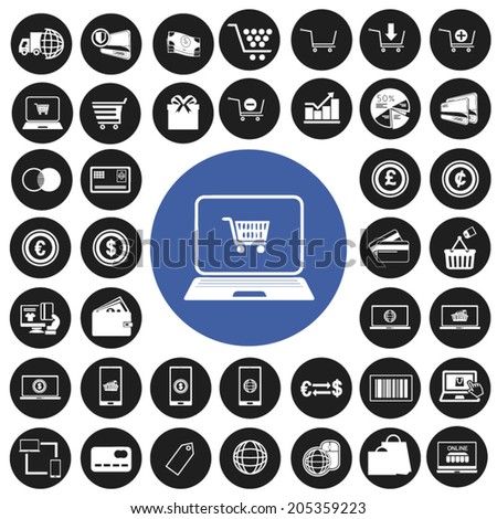 e-commerce and shopping icons set