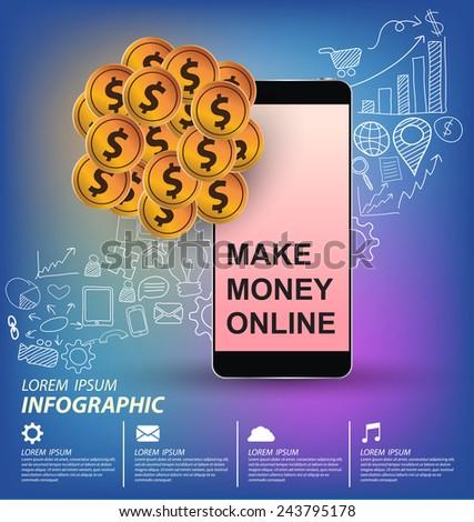 e commerce concept vector Illustration - stock vector