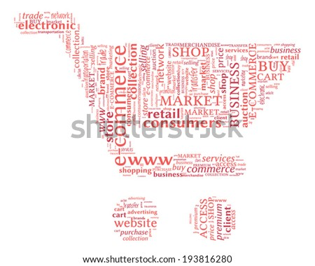 E-Commerce concept word cloud
