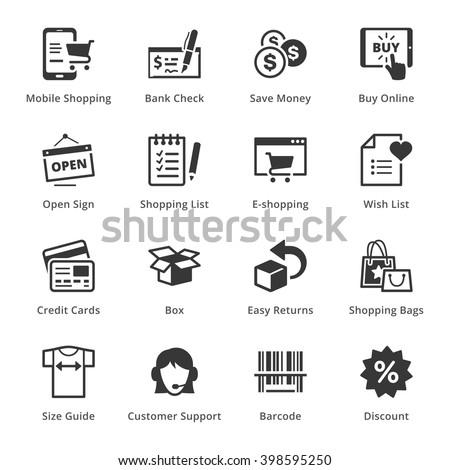 E-commerce Icons - Set 3 - stock vector
