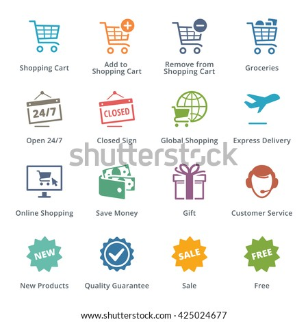 E-commerce Icons Set 2 - Colored Series