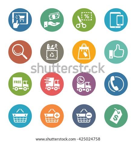 E-commerce Icons Set 4 - Dot Series - stock vector