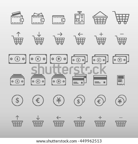 E-Commerce Icons Set Vector Illustration