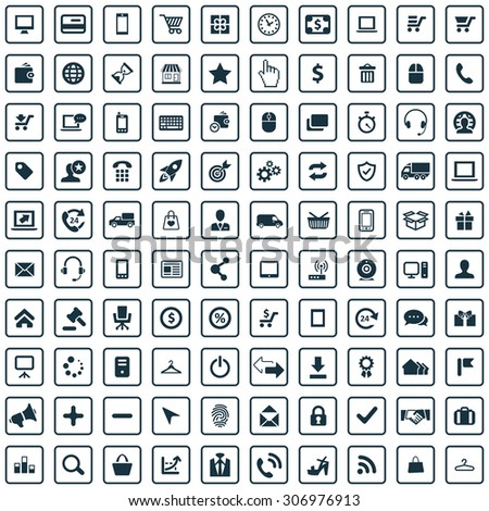 e-commerce 100 icons universal set for web and mobile